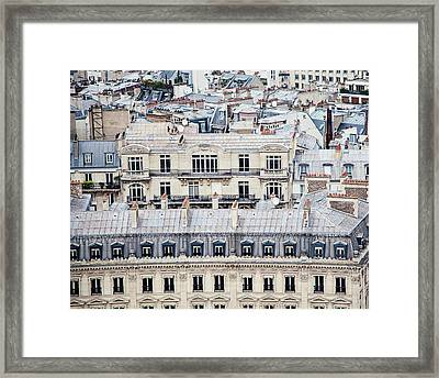 Framed Print featuring the photograph Paris Rooftops Photograph by Melanie Alexandra Price