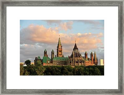 Parliament Building In Ottawa, Onratio Framed Print