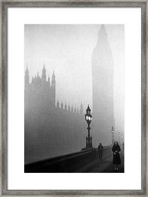 Parliament Fog Framed Print by Kurt Hutton