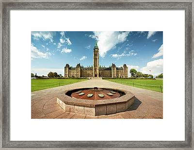 Parliament Hill In Ottawa Framed Print