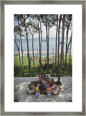 Party In Marbella Framed Print