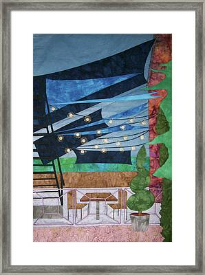 Patio At The Winds Framed Print