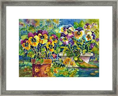 Patio Visitor Framed Print