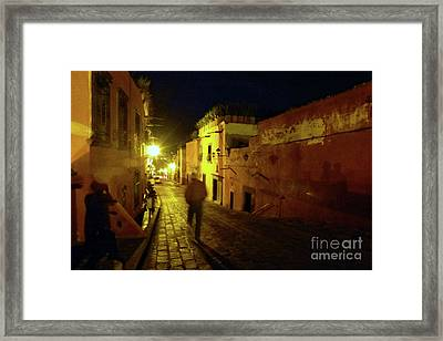 Framed Print featuring the photograph Patzcuaro Street by Rosanne Licciardi