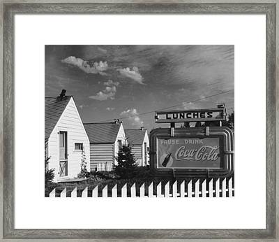 Pause.. Drink Coca-cola Framed Print by Frederic Lewis