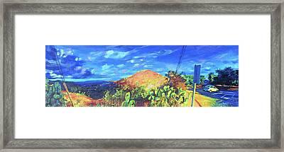 Pause On Mulholland Drive Framed Print