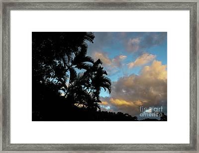 Peach Sunset  Framed Print