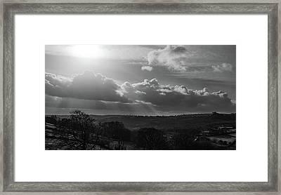 Peak District From Black Rocks In Monochrome Framed Print
