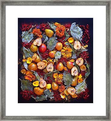Pear Livable Tapestry Framed Print
