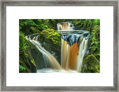 Pecca Twin Falls, Ingleton Framed Print by David Ross