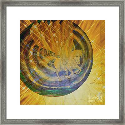 Framed Print featuring the mixed media Pegasus Golden Ray by Sabine ShintaraRose