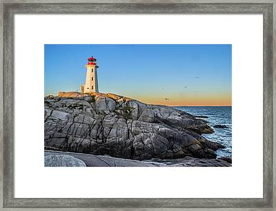 Peggys Cove Lighthouse Framed Print