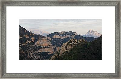 Framed Print featuring the photograph Pena Montanesa  by Stephen Taylor