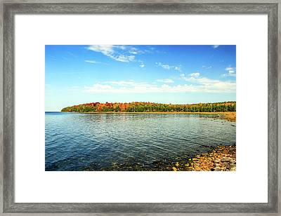 Peninsula Shore In Fall Framed Print