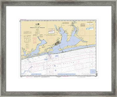 Pensacola Bay And Approaches Noaa Chart 11382 Framed Print