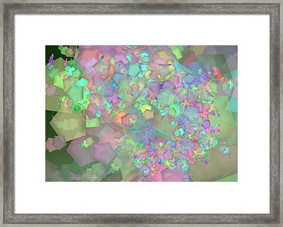 Pentagon Complex Remix One Framed Print