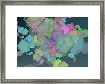 Pentagon Simply Framed Print