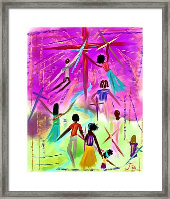 People Of The Cross Framed Print