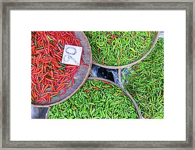 Peppers At The Market Framed Print