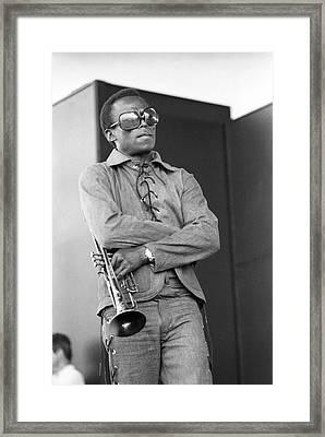 Performing At Newport Jazz Festival Framed Print