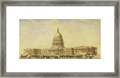 Perspective Rendering Of United States Capitol Framed Print
