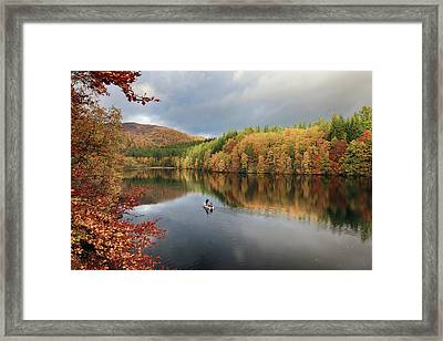 Framed Print featuring the photograph Perthshire Autumn by Grant Glendinning