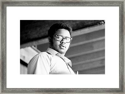 Perturbed High School Student, With Substantial Eyeglasses, 1972 Framed Print