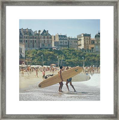 Peter Viertel Framed Print by Slim Aarons