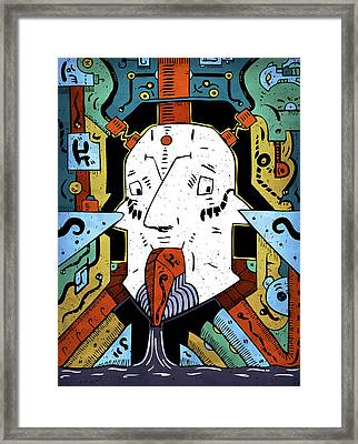 Framed Print featuring the drawing Petroleum by Sotuland Art