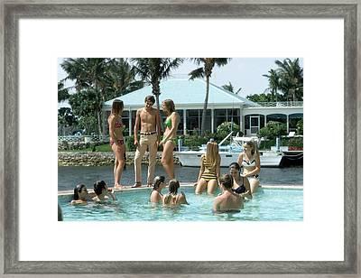 Phil Richards Pool Framed Print