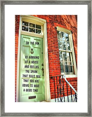 Philly Welcome Quote Framed Print by JAMART Photography