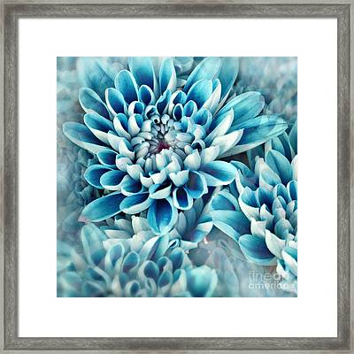Photo Illustration Of Abstract Flower Framed Print by Annmarie Young