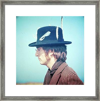 Photo Of John Lennon Framed Print