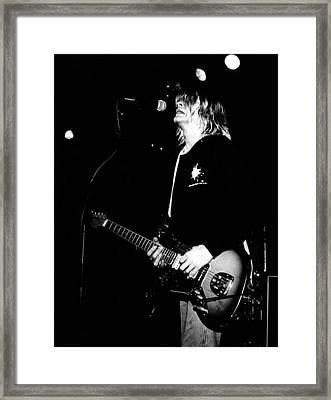 Photo Of Kurt Cobain And Nirvana Framed Print by Paul Bergen