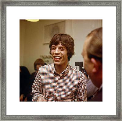 Photo Of Rolling Stones And Mick Jagger Framed Print by David Redfern