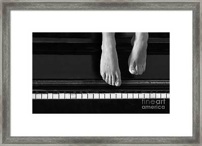 Piano #0215az Framed Print