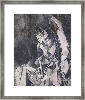 Framed Print featuring the drawing Picasso Study by Rosanne Licciardi