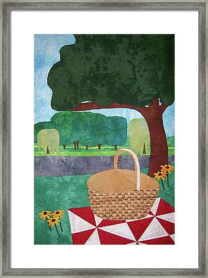 Picnic At Ellis Pond Framed Print