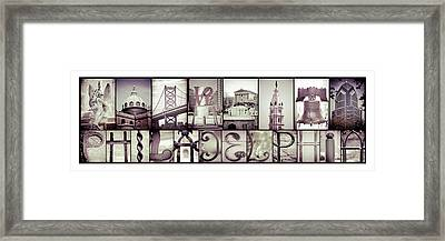 Pieces Of Philly Framed Print
