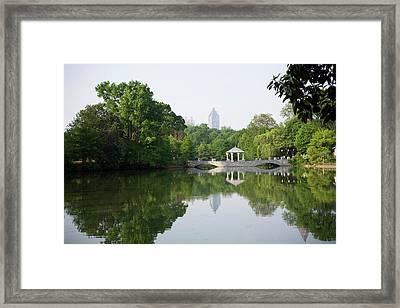 Piedmont Park In Atlanta Framed Print by Rdegrie