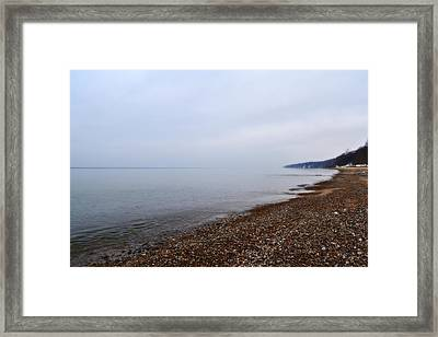 Pier Cove With Stoney Beach 1.0 Framed Print