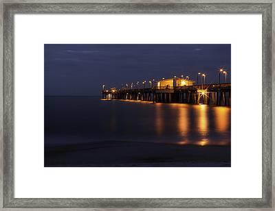 Pier Glow Framed Print
