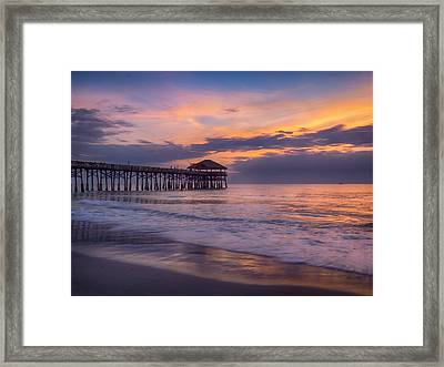 Pier Greeting Framed Print