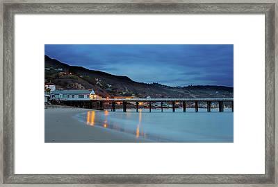 Pier House Malibu Framed Print