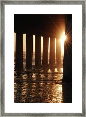 Pier Light Framed Print