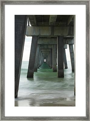 Pier Roll Tide Framed Print