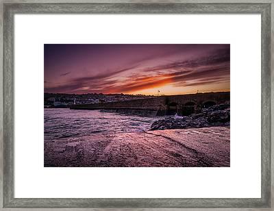 Pier To Pier Sunset Framed Print