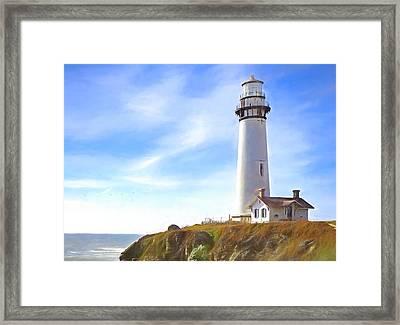 Pigeon Point Lighthouse Ca Framed Print