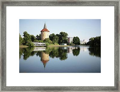 Pildammsparken In Malmo Framed Print by Secablue