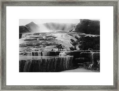 Pink & White Terraces Framed Print by General Photographic Agency